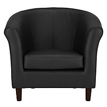 Buy John Lewis Juliet Leather Armchair, Veneto Black Online at johnlewis.com