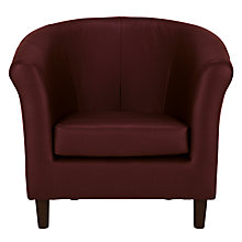 Buy John Lewis Juliet Leather Armchair, Old Saddle Ox Blood Online at johnlewis.com