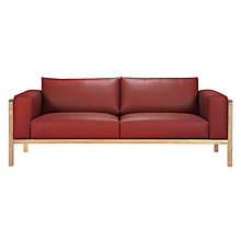 Buy John Lewis Heming Large Leather Look Sofa Online at johnlewis.com