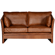 Buy Halo Harpo Small Aniline Leather Sofa, Old Saddle Walnut Online at johnlewis.com