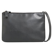 Buy Mango Across Body Double Zip-Top Bag, Black Online at johnlewis.com
