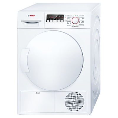 Bosch WTB84200GB Sensor Condenser Tumble Dryer, 8kg Load, B Energy Rating, White