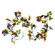 Buy John Lewis Pansy Garland, L1.8m Online at johnlewis.com