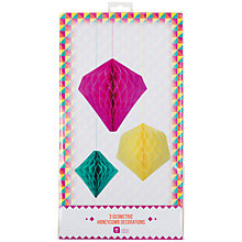 Buy Talking Tables Geometric Honeycombs, Set of 3 Online at johnlewis.com