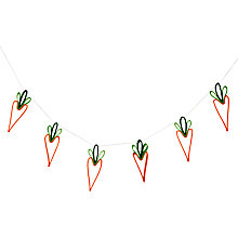 Buy John Lewis Felt Carrot Garland, L1.7m Online at johnlewis.com