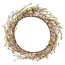Buy John Lewis Twig Wreath, Pink/Yellow Online at johnlewis.com