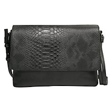 Buy Mango Flap-Over Across Body Bag, Black Online at johnlewis.com