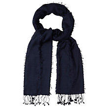 Buy White Stuff Fiona Plain Scarf, Navy Online at johnlewis.com