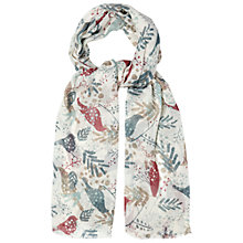 Buy White Stuff Birds and Berries Scarf, Off White Online at johnlewis.com