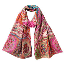 Buy East Tajim Silk and Wool Scarf, Multi Online at johnlewis.com