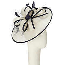 Buy John Lewis Freya Bow Side Up Brim Occasion Hat, Ivory/Navy Online at johnlewis.com