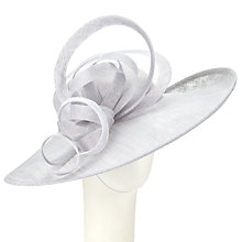Buy John Lewis Lydia Curl Loop Disc Occasion Hat, Dove Online at johnlewis.com
