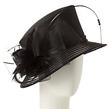 Buy John Lewis Carly Shantung Crown Occasion Hat, Black Online at johnlewis.com