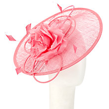 Buy John Lewis Perdy Flower Disc Occasion Hat, Coral Online at johnlewis.com