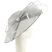 Buy John Lewis Jane Down Brim Disc Occasion Hat, Silver Online at johnlewis.com