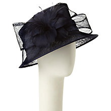 Buy John Lewis Lottie Small Down Brim Occasion Hat, Navy Online at johnlewis.com