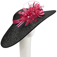 Buy John Lewis Bella Feather Flower Hat, Navy/White Online at johnlewis.com