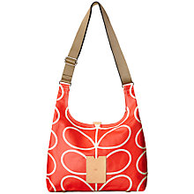 Buy Orla Kiely Giant Linear Midi Sling Bag, Red Online at johnlewis.com