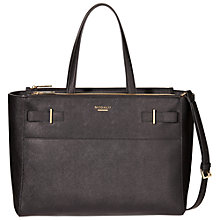 Buy Modalu Belle Large Leather Grab Bag, Black Online at johnlewis.com