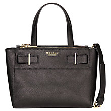 Buy Modalu Belle Small Leather Grab Bag, Black Online at johnlewis.com