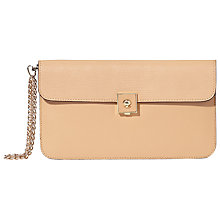 Buy Modalu Verity Leather Clutch Bag, Almond Online at johnlewis.com