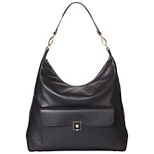 Buy Modalu Somerset Leather Hobo Bag, Black Online at johnlewis.com
