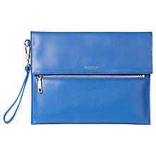 Buy Modalu Erin Leather Clutch Bag, Ocean Online at johnlewis.com