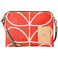 Buy Orla Kiely Giant Linear Travel Pouch Bag, Red Online at johnlewis.com