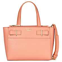 Buy Modalu Belle Small Leather Grab Bag, Coral Online at johnlewis.com