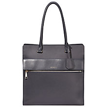 Buy Modalu Erin Large Leather North South Shoulder Bag, Navy Online at johnlewis.com