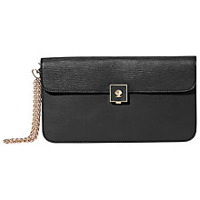 Buy Modalu Verity Leather Clutch Bag, Black Online at johnlewis.com