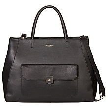 Buy Modalu Verity Large Leather Grab Bag, Black Online at johnlewis.com