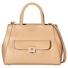 Buy Modalu Verity Leather Small Grab Bag, Tan Online at johnlewis.com
