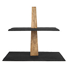 Buy John Lewis Square Slate Cake Stand, 2 Tier Online at johnlewis.com