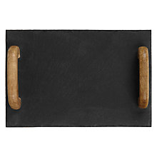 Buy John Lewis Slate Tray with Wooden Handles Online at johnlewis.com