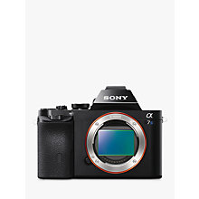 "Buy Sony Alpha ILCE-7S Compact System Camera, HD 1080p, 12.2MP, Wi-Fi, NFC, OLED EVF, 3"" Screen, Body Only Online at johnlewis.com"
