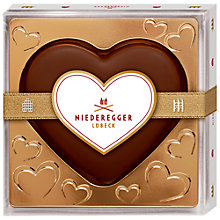 Buy Niederegger Marzipan Marc de Champagne Chocolate Heart, 120g Online at johnlewis.com