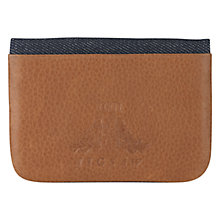 Buy Jigsaw William Morris Leather Card Holder, Tan Online at johnlewis.com
