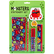 Buy Fourth Wall Brands Monsters Stationery Set Online at johnlewis.com