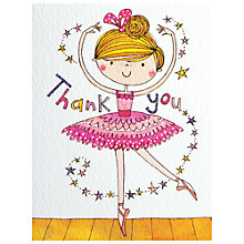 Buy Rachel Ellen Ballerina Thank You Cards, Pack of 5 Online at johnlewis.com