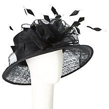 Buy John Lewis Susie Bow Down Brim Occasion Hat, Black Online at johnlewis.com