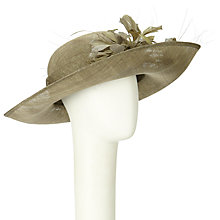 Buy John Lewis Jade Medium Up Brim Occasion Hat, Khaki Online at johnlewis.com