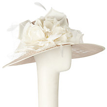 Buy John Lewis Vera East West Silk Flow Occasion Hat, Latte/Ivory Online at johnlewis.com