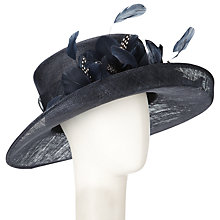 Buy John Lewis Eden Medium Sideup Brim Occasion Hat, Navy Online at johnlewis.com