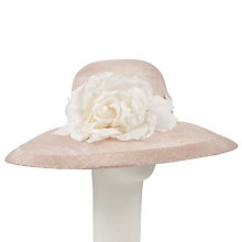 Buy John Lewis Sal Lace Medium Down Brim Occasion Hat, Latte Online at johnlewis.com