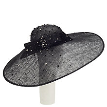 Buy John Lewis Lee Diamante And Bead Occasion Hat, Black Online at johnlewis.com