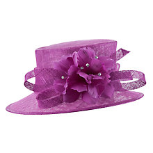 Buy John Lewis Ella Small Downbrim Occasion Hat, Fuschia Online at johnlewis.com