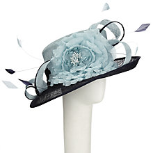 Buy John Lewis Babs Down Brim Occasion Hat, Navy/Turquoise Online at johnlewis.com