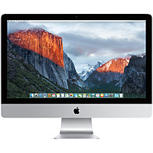 "Buy Apple iMac with Retina 5K display MF885B/A All-in-One Desktop Computer, Quad-core Intel Core i5, 8GB RAM, 1TB, 27"" Online at johnlewis.com"