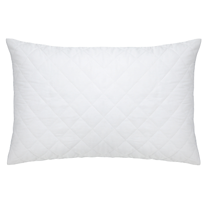 John Lewis Micro-Fresh Cotton Quilted Pillow Protector